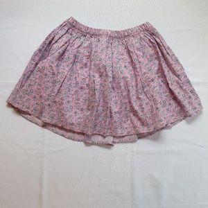 Gap Pink Purple Skirt 8 Cotton Flowers Medium